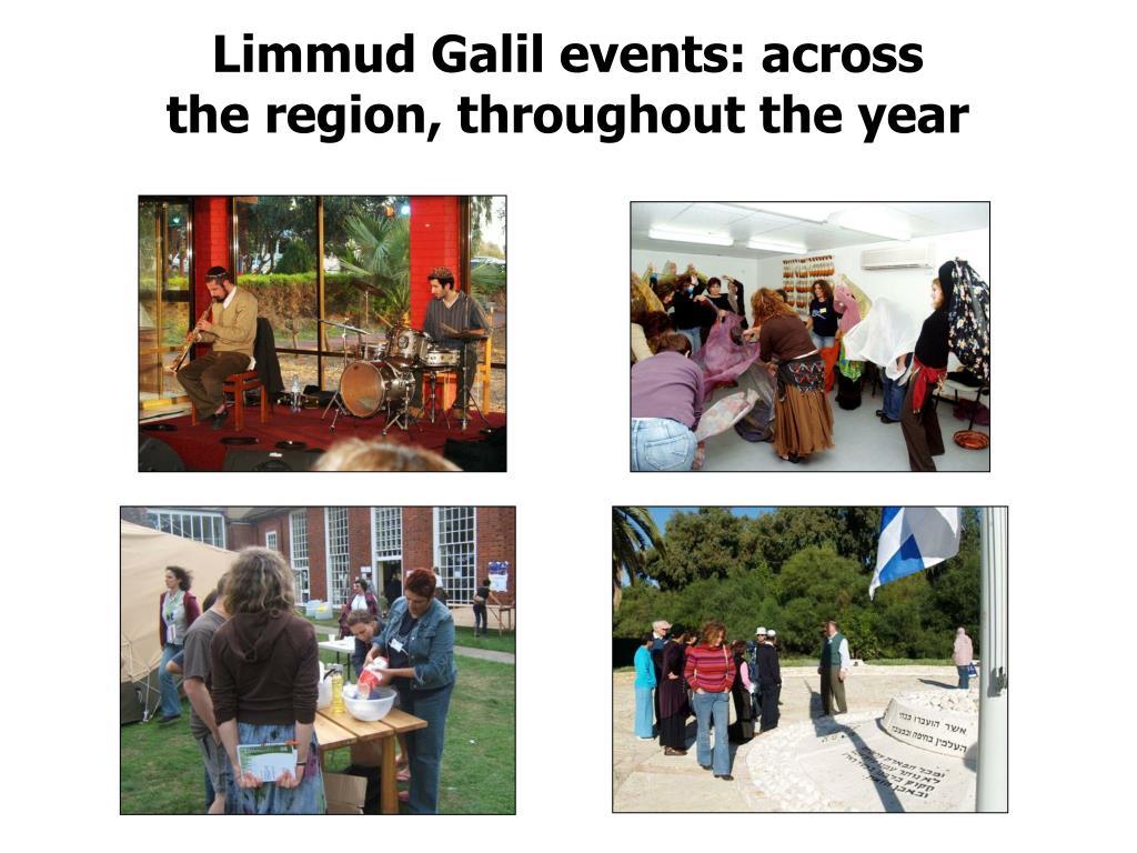 Limmud Galil events: across