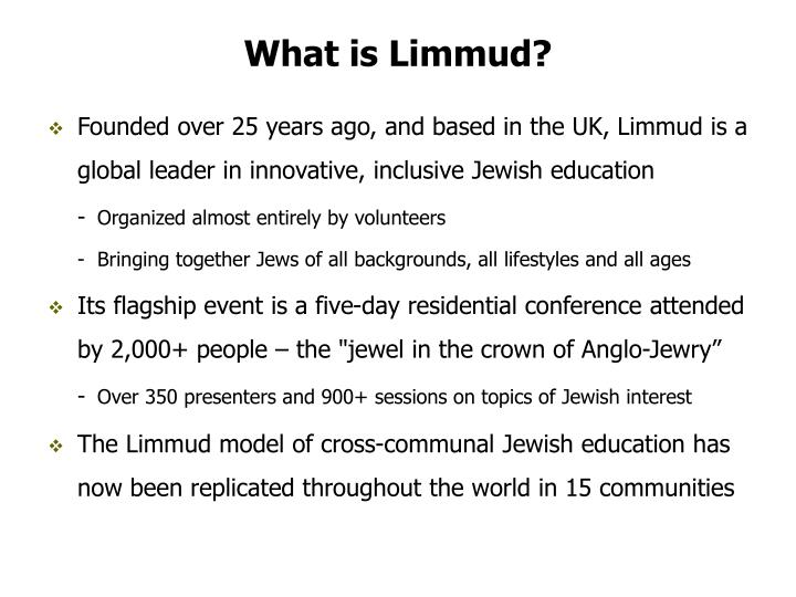 What is limmud