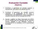evaluaci n contable objetivos