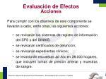 evaluaci n de efectos acciones
