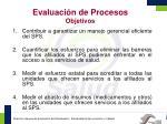 evaluaci n de procesos objetivos