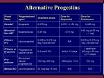alternative progestins