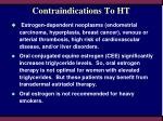 contraindications to ht