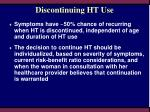 discontinuing ht use