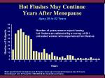 hot flushes may continue years after menopause