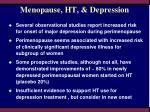 menopause ht depression
