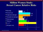 million women study breast cancer relative risks