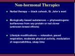 non hormonal therapies