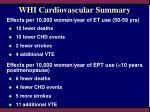 whi cardiovascular summary