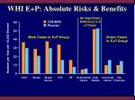 whi e p absolute risks benefits