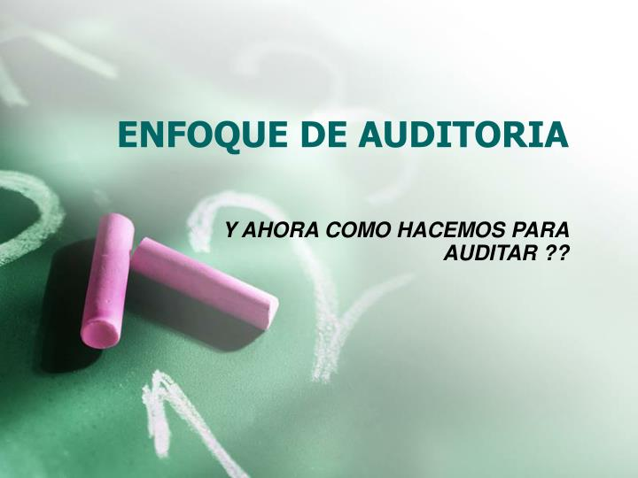 enfoque de auditoria n.