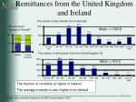 remittances from the united kingdom and ireland
