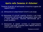 apatia nella demenza di alzheimer