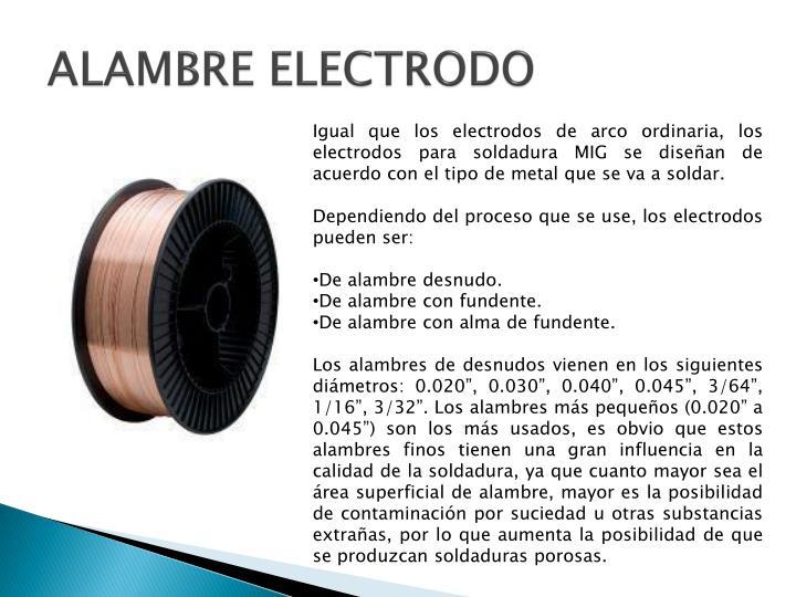 ALAMBRE ELECTRODO