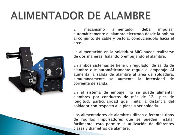 ALIMENTADOR DE ALAMBRE