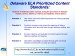 delaware ela prioritized content standards