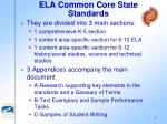 ela common core state standards