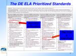 the de ela prioritized standards