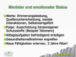 mentaler und emotionaler status