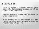 4 los valores