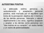 autoestima positiva