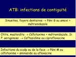 atb infections de contigu t