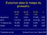 evolution dans le temps du pronostic