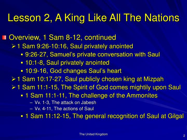 Lesson 2 a king like all the nations2