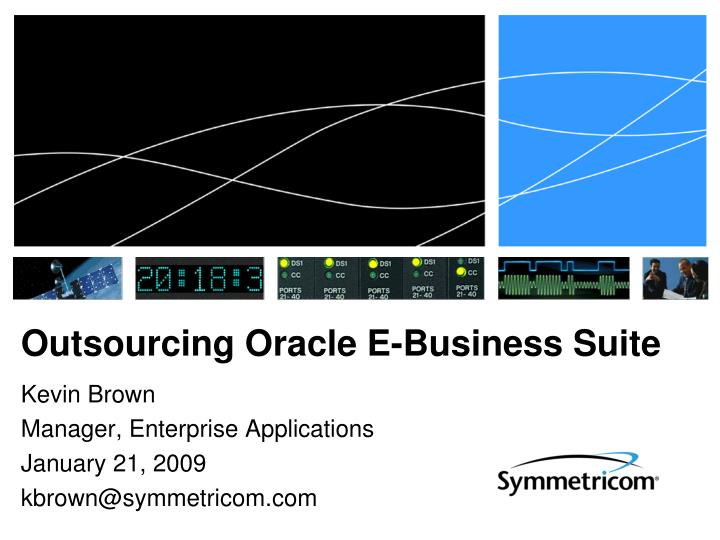 outsourcing oracle e business suite n.