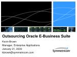 outsourcing oracle e business suite