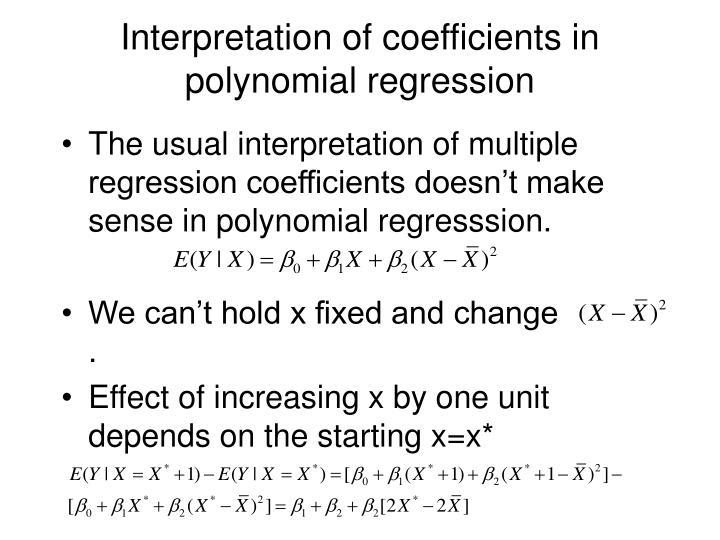 Interpretation of coefficients in polynomial regression