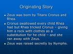 originating story