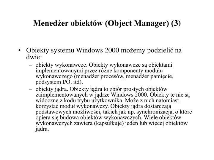 Menedżer obiektów (Object Manager) (3)