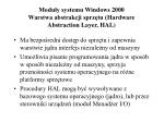 modu y systemu windows 2000 warstwa abstrakcji sprz tu hardware abstraction layer hal