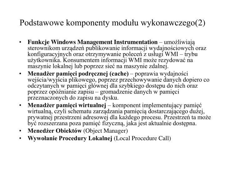 Podstawowe komponenty modułu wykonawczego(2)