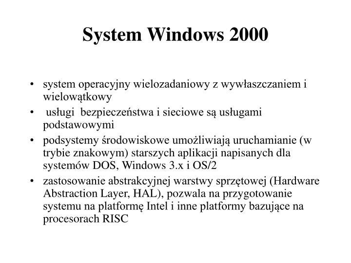 System windows 2000