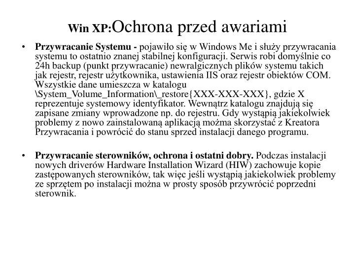 Win XP: