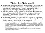 windows 2000 modu j dra 3