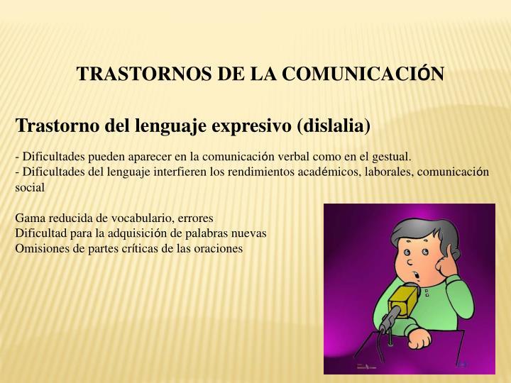 TRASTORNOS DE LA COMUNICACI