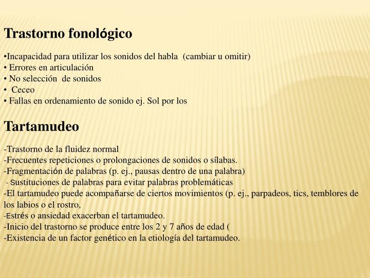 Trastorno fonol