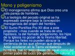 mono y poligenismo