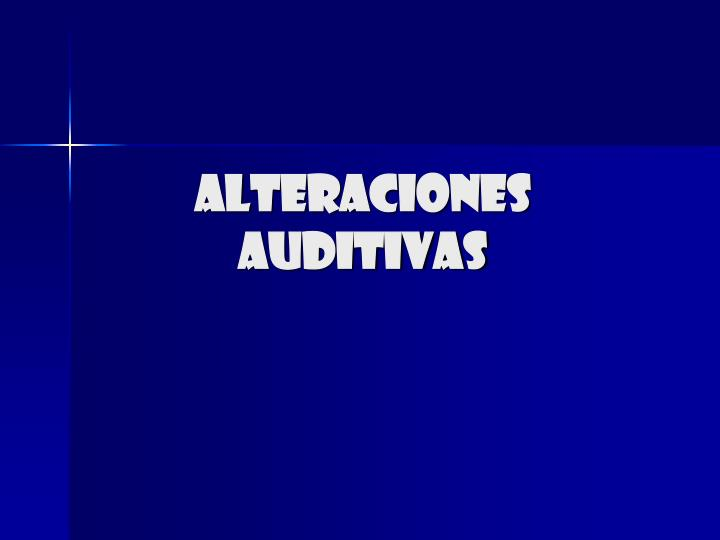 alteraciones auditivas n.
