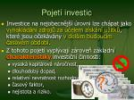 pojet investic