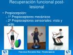 recuperaci n funcional post lesional