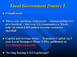 local government finance i