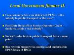 local government finance ii