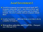local government i