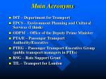 main acronyms