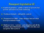 transport legislation ii