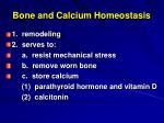 bone and calcium homeostasis
